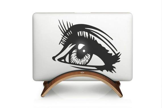 The Gazing Eyer Decal Sticker  | Laptop Macbook | Gaze Stare Glare Peer Gawk | Co, mac, Macbook Decal Sticker
