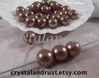 10mm --- Bronze Faux Loose Pearls --- 50 pieces