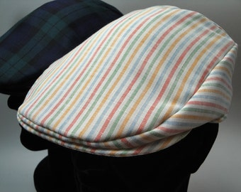 Rts 6 Panel Handmade Flat Cap Driving Cap For Men In Black
