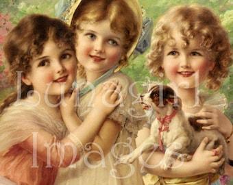 500 vintage images, GIRLS BOYS vintage images, Victorian children babies, printable art, digital ephemera, scrapbooking cards clipart crafts