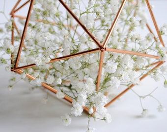 Copper Himmeli Table Topper — Geodesic Dome | Nordic Wedding | Home Decor | Nordic Mobile | Rose Gold Hanging Decor | Wedding Centerpiece