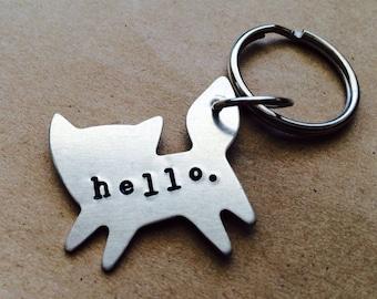 Key chain, fox with custom stamping