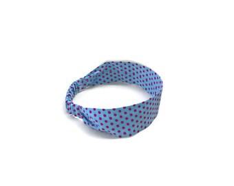 Blue flat headband, hair headband