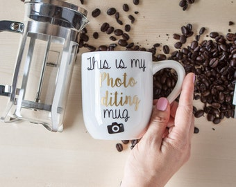 This is My Photo Editing Mug or wine glass | Gift for Photographer | Wedding Day  | Gift Wrap | Gift Box
