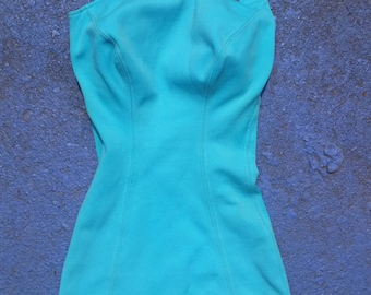 OneCatalina Masterpiece Swimsuit // One Shoulder // 50s 60s Pinup Bathing Suit // Hourglass // Size 8/30 XS