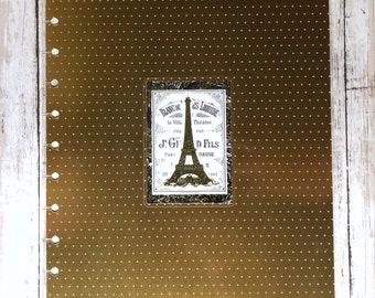 Vintage Paris Foil Big Happy Planner Cover