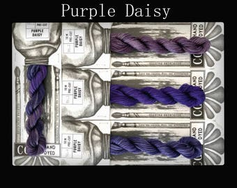 Purple Daisy Cottage Garden Threads Stitchers Palette -CGT- 6 Strand Cotton embroidery thread- Hand Dyed Thread-Quilting Australia