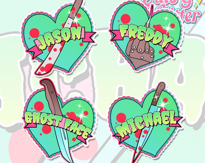 Horror Heart, Choice of Name Holographic Sticker