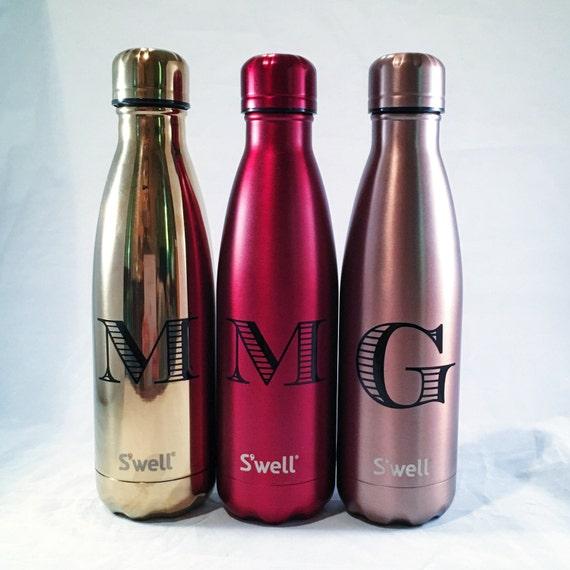 Personalized Swell Bottle - Initial Swell Bottle - Christmas, Groom, Groomsmen, Bride, Bridesmaid, Custom Swell