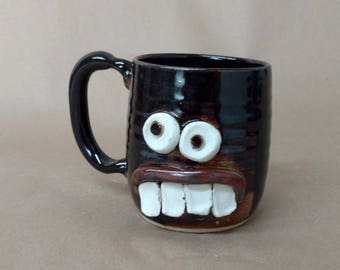 Pottery Mug. Dentist Orthodontist Gift. Funny Coffee Cup Chocolate Black. Handmade Ceramic Mug. Man Woman Beer Mugs. Dishwasher Safe.