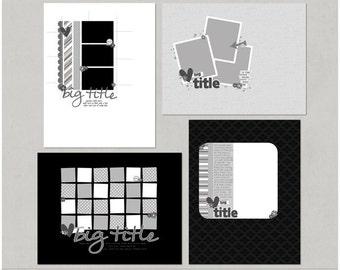 Mixin It Up 11 - 8.5x11 Digital Scrapbooking Templates