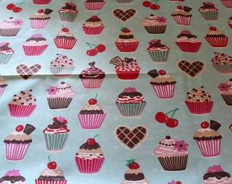 Oilcloth fabric cupcake 50 x 70 cm