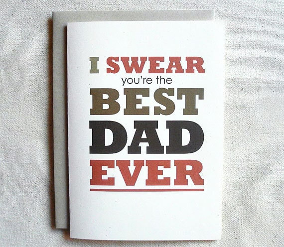 Father Birthday Card Funny I S you're the BEST DAD