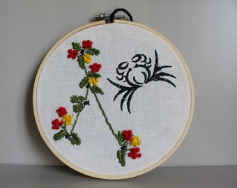 Cancer zodiac sign constellation / embroidery astrological gift