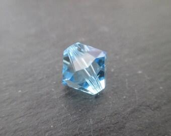 1 10 mm Aquamarine Swarovski Crystal bicone - reference 5328