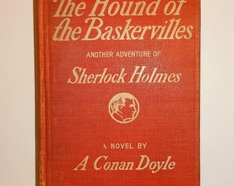 1902 ARTHUR CONAN DOYLE - The Hound of the Baskervilles, 1st Edition, Illustrated, Sherlock Holmes