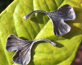 Ginkgo Leaf Stud Earrings