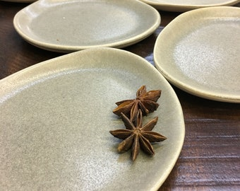 Set of Small Appetizer Plates, Handmade Plates, Pottery Plates, Ceramic Dishes, Hostess Gift, Housewarming Gift, Spoon Rest, Jewelry Holder