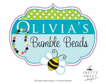 Chunky Beads Logo Design, Custom Business Logos, Jewelry Boutique Logo Design To Brand Your Business