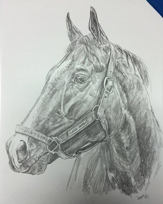 Classic Empire Original Graphite Pencil Horse Racing Art Derby
