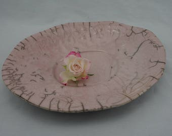 Flat pink raku - cut