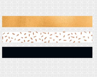 DIY Black and Gold theme Mini Flags, Straw Flags - Instant Download - black and gold theme, Eid Mubarak Theme
