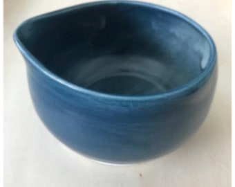 Blue bowl with spout