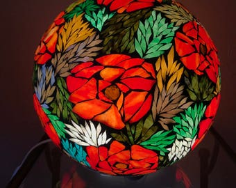 Glass stained glass mosaic ball lamp