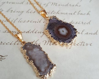 Gypsy Jewelry - Amethyst Stalactite Necklace - Metaphysical Jewelry - Raw Gemstone Jewelry - Healing Crystal Necklace