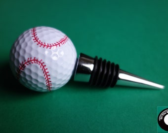 Baseball Golf Ball Wine Bottle Stopper