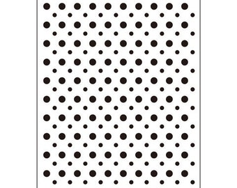 Darice® Embossing Folder - Polka Dot - 4.25 x 5.75, scrapbooking, card making, greeting cards, invitations and more