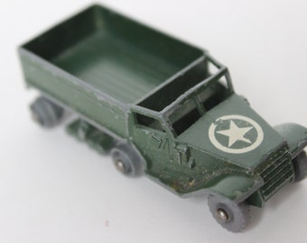 Vintage Lesney Army M3 Green Car Die Cast Metal No. 49 Personnel Carrier Made in England