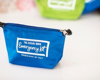 Blue Bridal Emergency Kit - Wedding Day Survival Kit - Bridesmaids Gift to Bride - Makeup Bag - Bridal Kit - FREE SHIPPING
