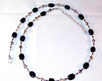 Blackstone Puffs Necklace