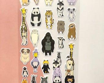 Animal Stickers // Planner Stickers // Scrapbooking embellishment // DIY essentials
