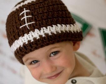 Crochet Football Hat Pattern- Crochet football beanie pattern- Newborn football hat pattern- Crochet football pattern- pigskin hat pattern