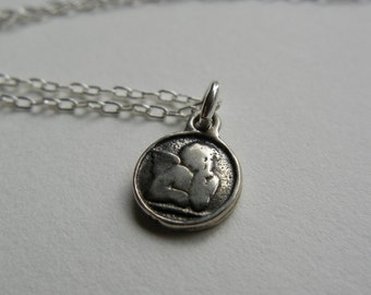 Tiny Cherub Necklace
