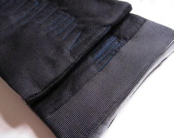cotton reversible scarf black and gray Velvet