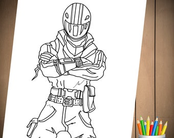 Fortnite battle royale coloring page for birthday party for Fortnite disegni da colorare