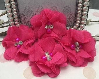 Shocking pink flower etsy popular items for shocking pink flower mightylinksfo