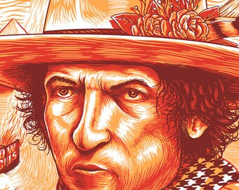 That Thin Wild Mercury Sound (Bob Dylan Art Print)