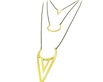 Ice Cream Triangle Necklace