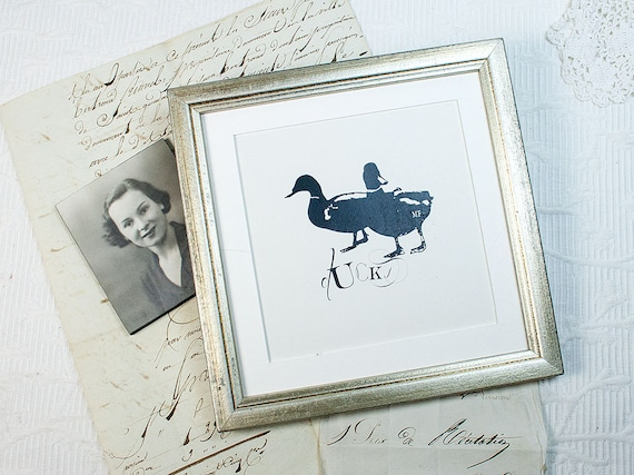 6x6 inch Distressed Silver Frame Square Instagram Format Silver ...