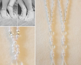 Beaded Barefoot Sandals (Size 8-9.5)