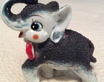 Vintage Kitschy Sugar Elephant Figurine made by Arnart in Japan 1950s