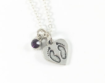 Baby Footprint Necklace, Miscarriage Necklace Remembrance Necklace Keepsake Jewelry Memorial Jewelry Child Loss Gift Loss Child Loss of Baby