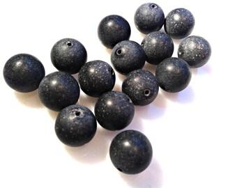 Blackstone Round Beads 12MM 26 pieces