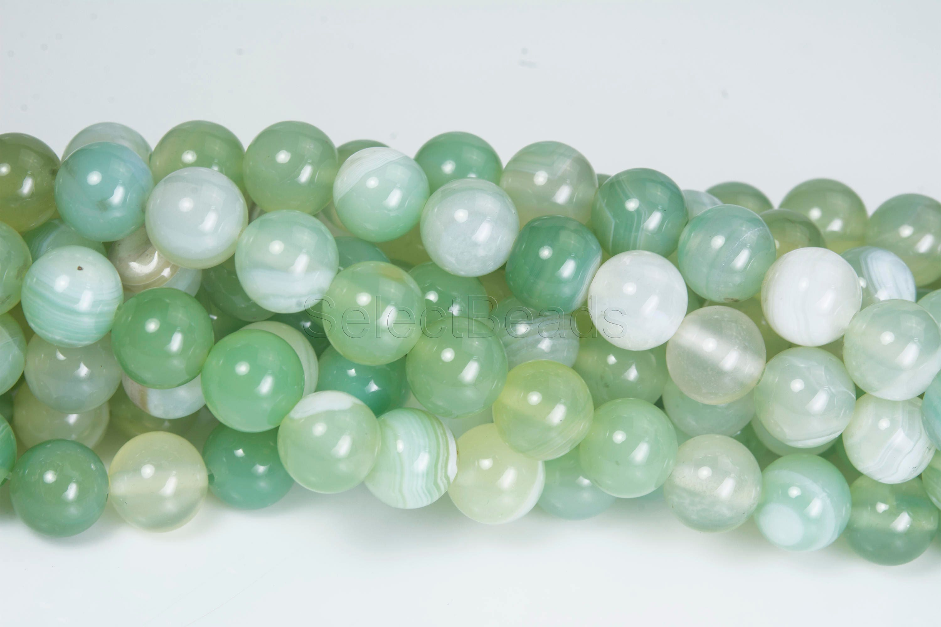 round quality beads blue strand jade pin full aa midnight