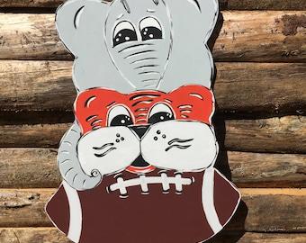House Divided - Alabama  - Football -  Door Decoration