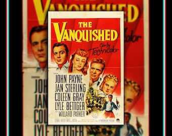 THE VANQUISHED (1953) Very Rare 27x40 Fold US One Sheet Movie Poster Original Vintage Collectible